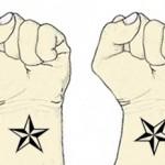 タトゥーの向きの違い
