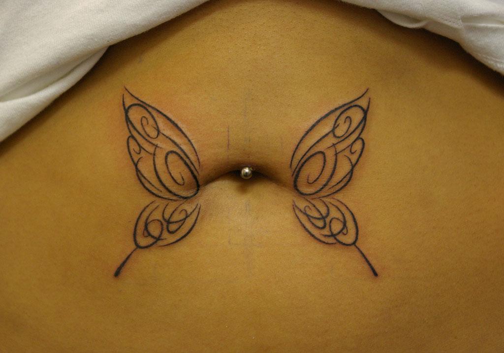 蝶の細めトライバル