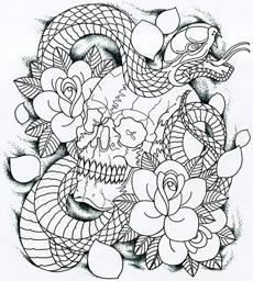 大阪のタトゥースタジオLUCKY ROUND 、蛇(スネーク)のタトゥーの意味。