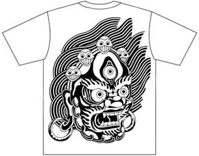 Tシャツ《大阪の地図とヒンドゥーの神》