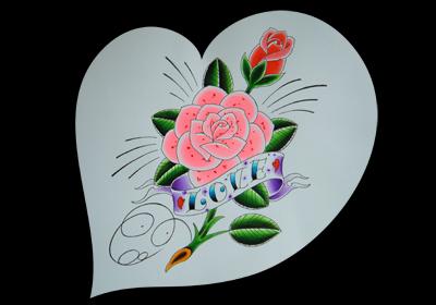 ビビッドなピンクの薔薇
