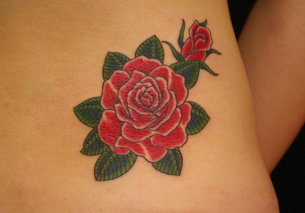 赤色の薔薇の花