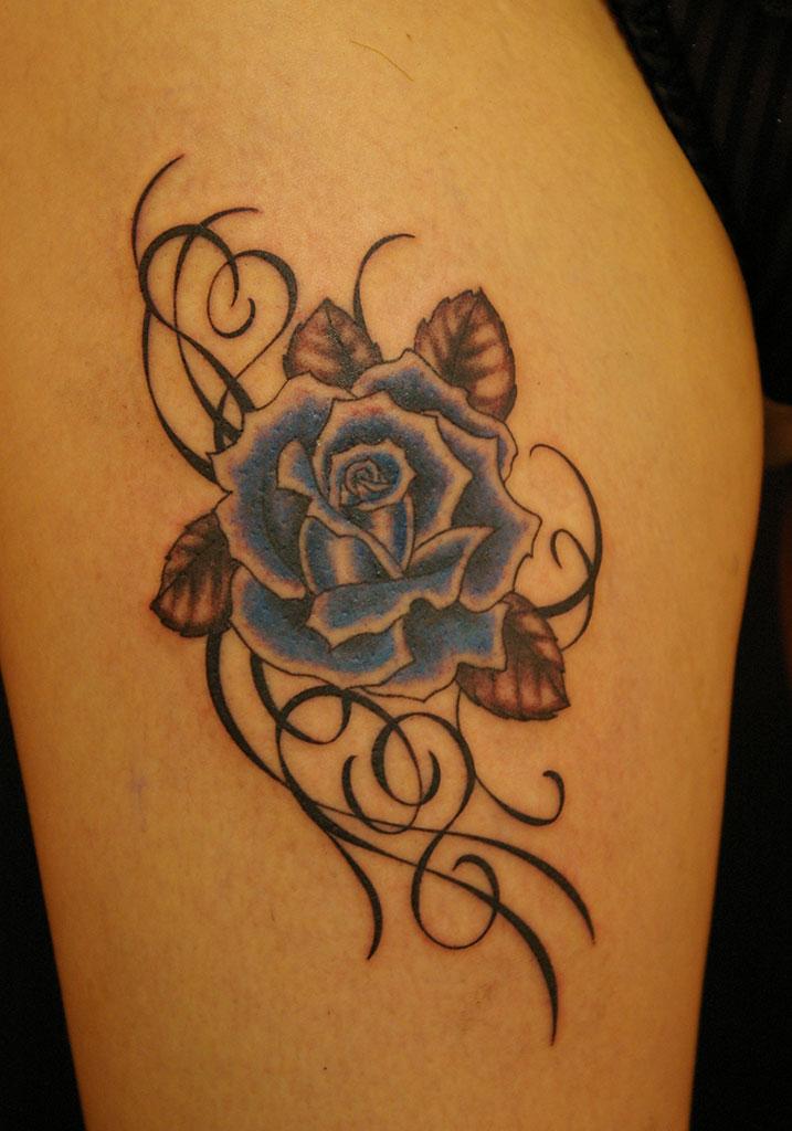 青色の薔薇
