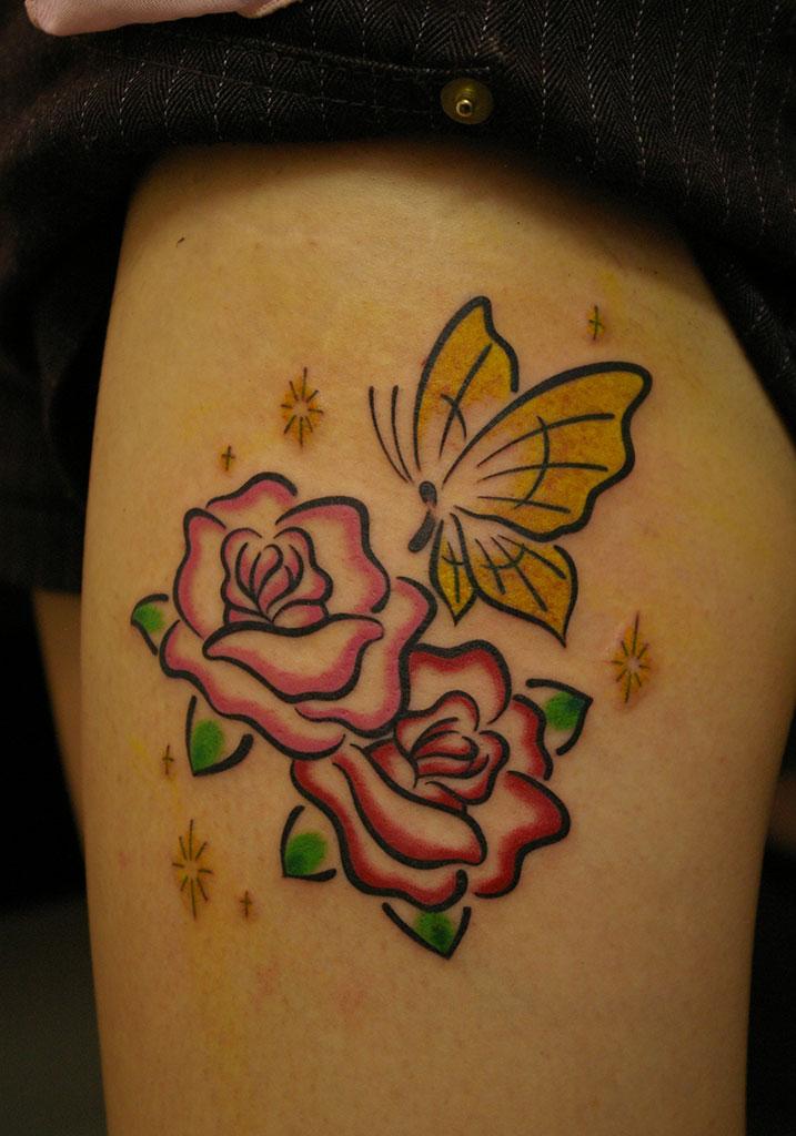 薔薇と蝶と輝く星
