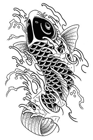 鯉と水しぶき
