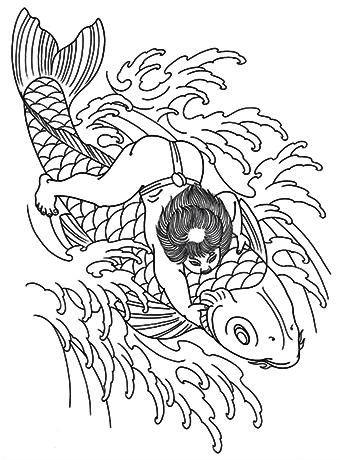 鯉に金太郎