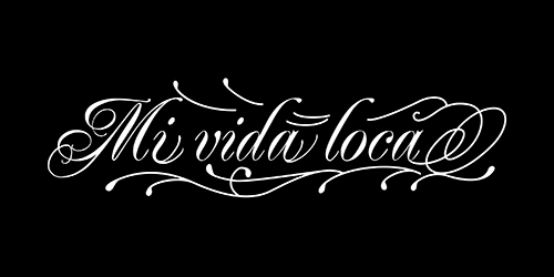 Mi vida locaのタトゥーデザイン