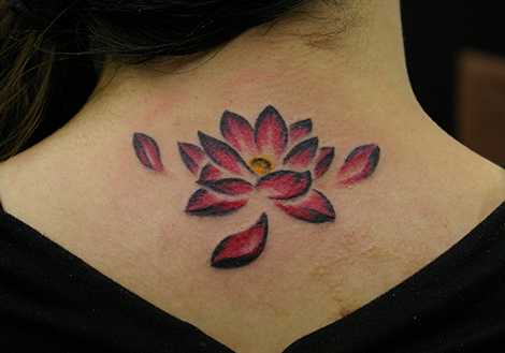 絵画タッチな蓮の花