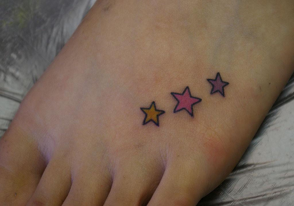 カラフルな星
