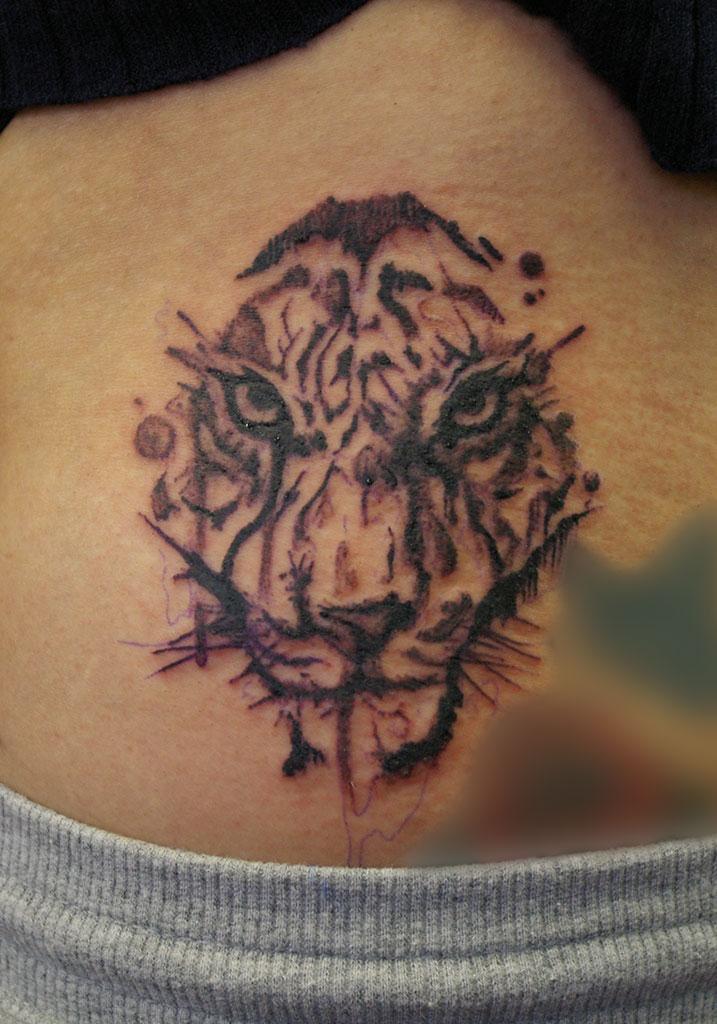 水彩画風の虎