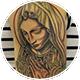 祈る聖母マリアと薔薇